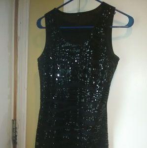Beautiful black sparkle mini dress